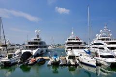 Yacht harbor, beside Hongkong gold coast Royalty Free Stock Photography