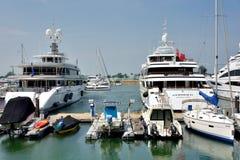 Yacht harbor of Hongkong gold coast Stock Photography