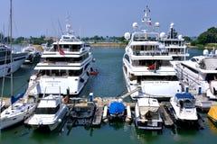 Yacht harbor at Hongkong gold coast Stock Photography