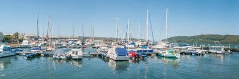 Yacht harbor in the Knysna Lagoon Royalty Free Stock Images