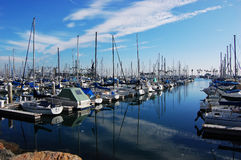 Yacht harbor in Long Beach, California Royalty Free Stock Photography