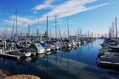 Yacht harbor in Long Beach, California royalty free stock photography