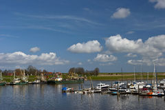 Yacht harbor. In northern of Germany royalty free stock image