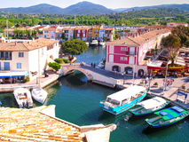 Yacht Harbor in Port Grimaud, France Royalty Free Stock Photos