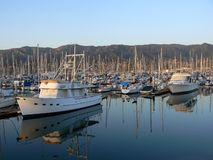 Yacht harbor of Santa Barbara Stock Photo