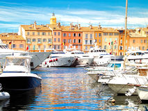 Yacht Harbor of St.Tropez, France Stock Image