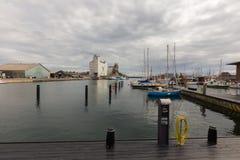 Yacht harbor in Svendborg Stock Image