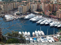 Yacht harbour. Yacht port in Monako Stock Photos