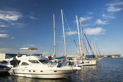 Yacht harbour on the Black Sea Royalty Free Stock Images