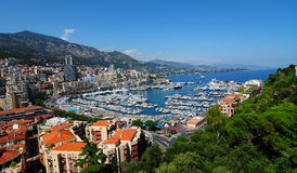 Yacht harbour from Monaco Royalty Free Stock Photo