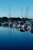 Yacht harbour in the morning. Sun, Strand, Baerum in Norway Royalty Free Stock Photo