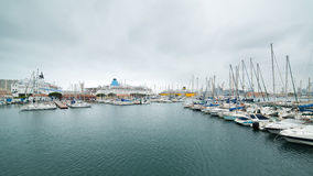 Yacht harbour in Toulon Stock Image