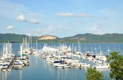 Yacht Heaven, Phuket, Thailand. The yacht marina in Phuket, Thailand royalty free stock image