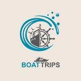 Yacht helm wheel Royalty Free Stock Photos