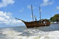 Yacht hergestellt vom Holz Stockfotos