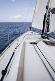 The yacht in the high sea Royalty Free Stock Photos