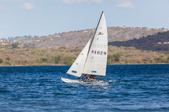 Yacht Hobby Dam Sailing Landscape Royalty Free Stock Photography