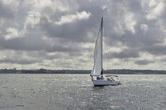 Yacht on Hudson river, New York Royalty Free Stock Photo