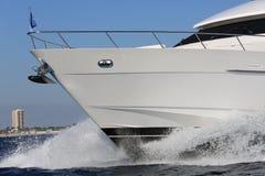 Yacht hull racing Royalty Free Stock Photo