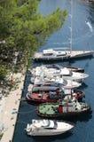 Yacht i Monte - carlo, Monaco Arkivbild
