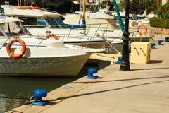 Yacht i porten Saplaya i Valencia Fotografering för Bildbyråer