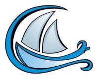 Yacht icon Stock Image