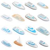 Yacht icons set, isometric 3d style Stock Photography