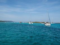 Yacht in Ile Lavezzi Royalty Free Stock Images