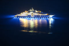 Yacht im adriatischen Meer Stockbild