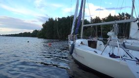 Yacht im Dock stock footage