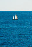 Yacht im Meer Stockfotografie