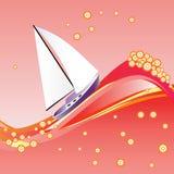Yacht im Roten Meer. Lizenzfreie Stockfotos
