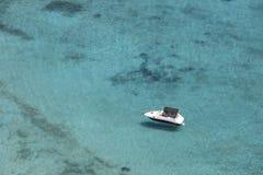 Yacht at Imeri Gramvousa Bay. Crete. Greece Royalty Free Stock Photos