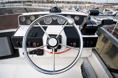 Yacht Instrument Panel. Royalty Free Stock Photos