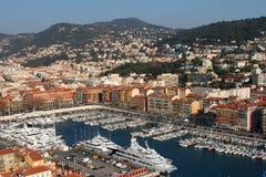 yacht intéressant de port de la France photographie stock