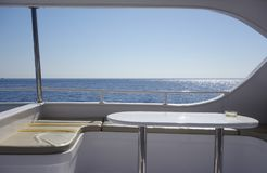 Yacht interior against sky. Image of an interior of yacht Stock Photos