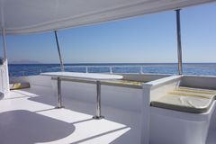 Yacht interior against sky. Image of an interior of yacht Stock Photography