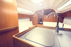Yacht interior Royalty Free Stock Images