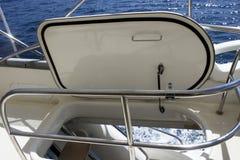 Yacht interior stairs stock image