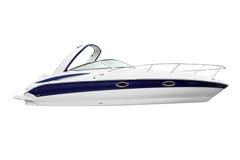 Yacht isolado no branco Imagem de Stock Royalty Free