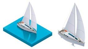 Yacht isométrique de vecteur illustration libre de droits