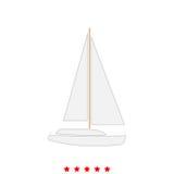 Yacht ist es Ikone vektor abbildung