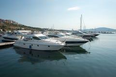 Yacht Jachthafen in der Seehafenstadt von Sozopol in Bulgarien Stockfotos