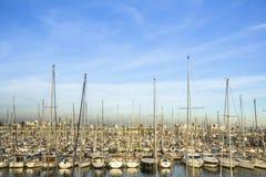 Yacht Jachthafen Sommerzeitferien, Luxuslebensstil Stockfoto