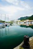 Yacht am Kai Lizenzfreies Stockbild