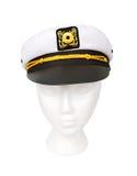 Yacht-Kapitän Hat Isolated mit einem Ausschnitts-Pfad Stockbilder