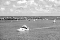 Yacht in Key West fotografia stock