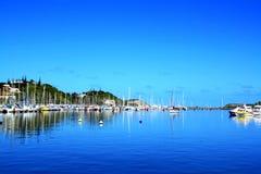 Yacht-Klumpen bei Noume Neu-Kaledonien Lizenzfreies Stockbild