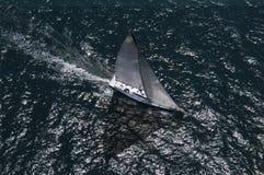 Yacht konkurriert in Team Sailing Event Lizenzfreies Stockfoto