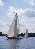 Yacht on the lake Stock Photography